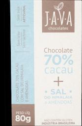 Chocolate 70% C Sal Do Himalaia/Amêndoas Java 80g