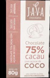 Chocolate 75% Cacau C Açúcar De Coco Java 80g