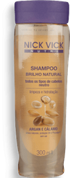 Shampoo Nick Vick Nutri Brilho Natural 300ml