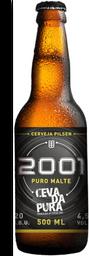 Cerveja Pilsen 2001 Puro Malte Cevada Pura 500ml