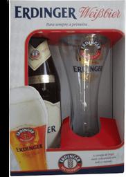 Kit Cerveja Erdinger Weissbier 500Ml + 1 Copo