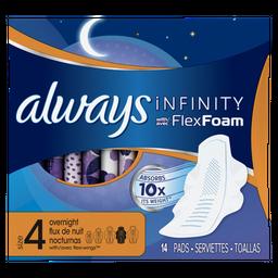 Absorvente Always Infinity Noturno Com 14