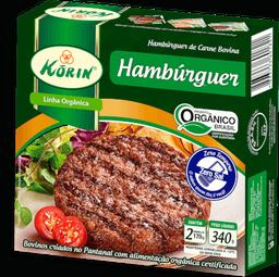 Hambúrguer  Bov Orgânico Korin 340g