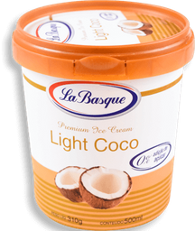 Sorvete Light Coco La Basque 500ml