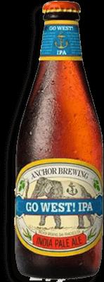 Cerveja Americana Anchor Go West Ipa Clara 355Ml