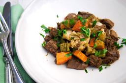 Carne com Funghi e Legumes  Assados