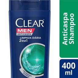 Clear Men Clear Shampoo 2 Em 1 Limpeza Diária