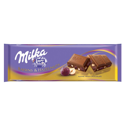 Milka Chocolate Tab Raisin Nut Passas Avelã