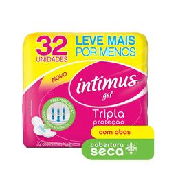 Absorvente c/ Abas Malha Seca Intimus Rosa 32 U