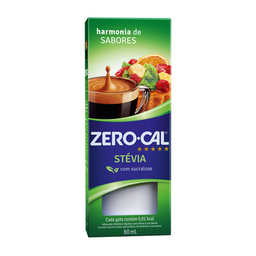 Adoçante Líquido De Stévia E Sucralose Zero Cal 80Ml