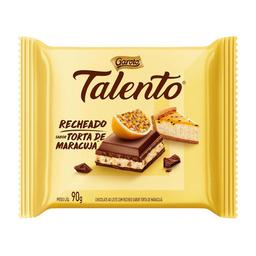Barra Chocolate Ao Leite c/ Torta De Maracujá Talento 90 g