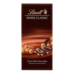 Barra De Chocolate c/ Avelã 49% Cacau Lindt Swiss 100 g