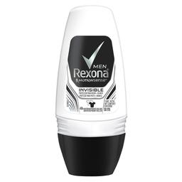 Desodorante Roll-On Rexona  Invisible Masculino 50Ml/53G