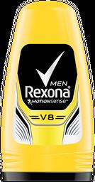Desodorante Roll-On Rexona  V8 Amarelo Masculino 50Ml/53G