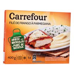 Frango À Parmegiana c/ Purê E Arroz c/ Brócolis Carrefour 400 g
