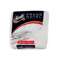 Guardanapo Folha Dupla Branco 33Cmx33cm Scott Grand Hotel 50U