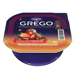Iogurte Grego Danone c/ Calda De Fondue Chocolate Morango 100 g