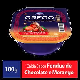 Iogurte Grego Danone Fondue Morango E Chocolate 100G