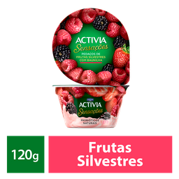 Iogurte Probióticos Activia Sensações Frutas Silvestres 120g