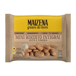 Mini Biscoito Integral Leite E Cereais Maizena Grãos Do Bem 40 g
