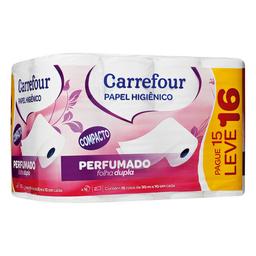 Papel Higiênico Folha Dupla 30 Metros Carrefour 16 U L16P15
