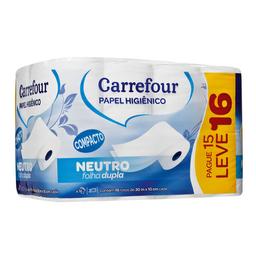 Papel Higiênico Folha Dupla 30 Metros Carrefour L16P15