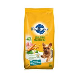Ração Pedigree Equilíbrio Natural Cães Adultos Raças Pequenas3kg