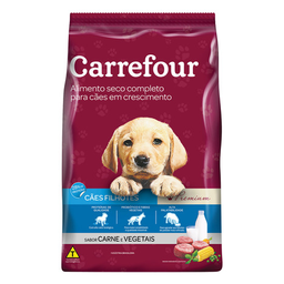 Ração Para Cachorro Filhote Carrefour Premium Carne 3Kg