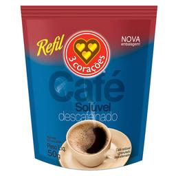Café Solúvel Granulado 3 Corações Descafeinado 50 g