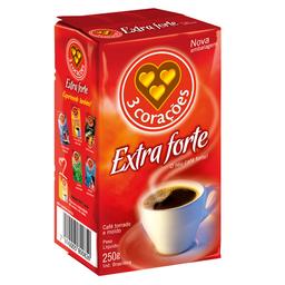 Café Em Pó Á Vácuo 3 Corações Extraforte 250 g