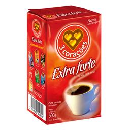 Café Em Pó À Vácuo 3 Corações Extraforte 500 g