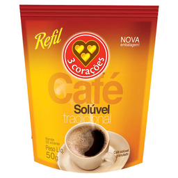Café Solúvel Granulado 3 Corações 50 g