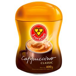 50% na 2 Unid Cappuccino 3 Corações Classic 400 g