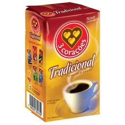 Café Em Pó Á Vacuo 3 Corações 500 g