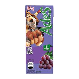 Bebida À Base De Soja Sabor Uva Ades Max 200Ml