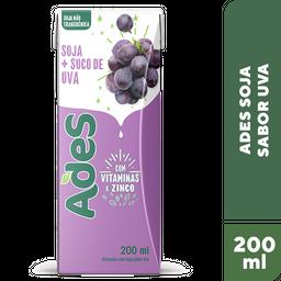 Bebida À Base De Soja Sabor Uva Ades Max 200 mL
