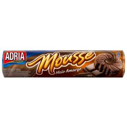 Biscoito Recheado De Chocolate Meio Amargo Adria Mousse 150 g