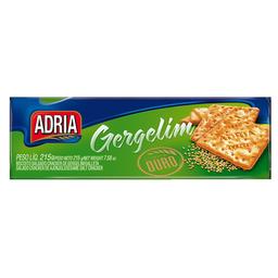 Biscoito Cream Cracker Gergelim Adria Ouro 215G