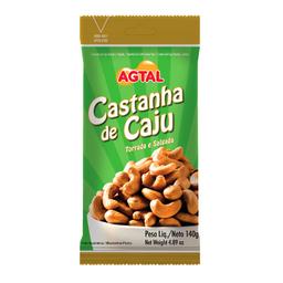 Castanha De Caju Com Sal Torrada Agtal 140 g