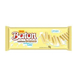 Barra De Chocolate Branco Com Recheio De Leite Baton 96G
