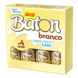 Bombom De Chocolate Branco Baton - 4 Unidades
