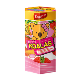 Biscoito Recheado De Morango Bauducco Koalas 37G