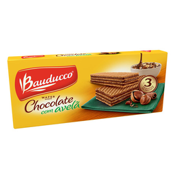 Wafer Chocolate E Avelã Bauducco 140 g