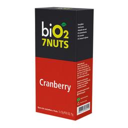 Barra Nuts Sabor Cranberry Bio2 Organic 7Nuts Com 3 Unidades