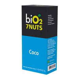 Barra Nuts Sabor Coco Bio2 Organic 7Nuts Com 3 Unidades