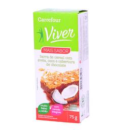 Barra De Cereal Sabor Coco c/ Chocolate Ao Leite Carrefour 3 Un.