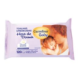 Toalha Umedecida Carrefour Baby Hora De Dormir 120 Unidades