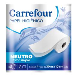 Papel Higiênico Dupla 30 Metros Carrefour 4 Unidades