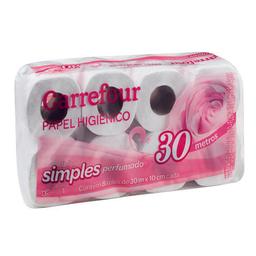 Papel Higiênico Folha Simples Carrefour 8 Unidades