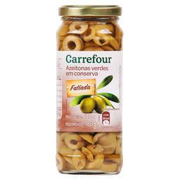 Azeitona Verde Sem Caroço Fatiada Carrefour 180 g